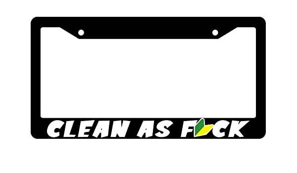 SLOW AS FCK JDM wakaba leaf License Plate Frame