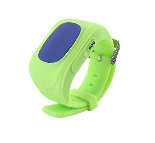 Techkoo Smart Watch für Kinder, 0,96 Zoll GPS Tracker(Wecker Stellen, Telefonieren, GPS Orten, fern reden, Schritte Zählen usw.) für iPhone, Samsung, Grün