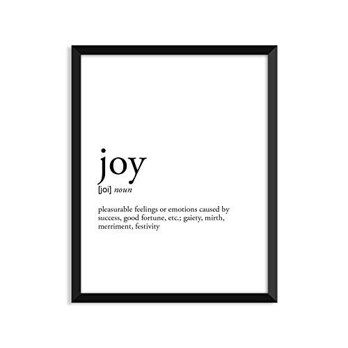 Joy definition - Unframed art print poster or greeting card