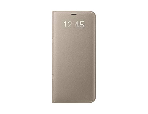 best service 51f20 09b81 Genuine Samsung LED View Cover Flip Wallet Case for Samsung Galaxy S8+ / S8  Plus - Gold (EF-NG955PFEGWW)