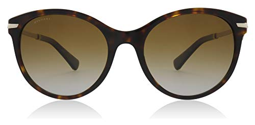Bvlgari BV8210B 504/T5 Dark Havana BV8210B Cats Eyes Sunglasses Polarised Lens