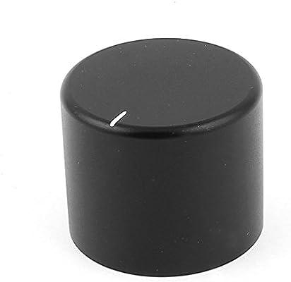 uxcell Black CNC Machined Solid Aluminum Speaker Radio Volume Knobs 30x25mm