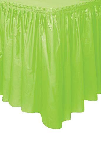 Green Plastic Table Skirt - 4