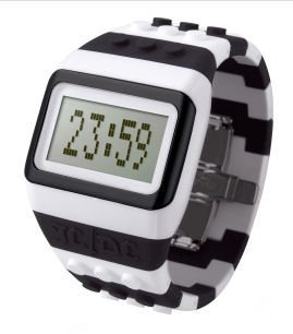(O.D.M. JC01-7 JCDC Pop Hours Series Black/White Unisex Watch)