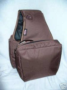 Weaver Brown Heavy Duty Trail Saddle Bag Horse Tack