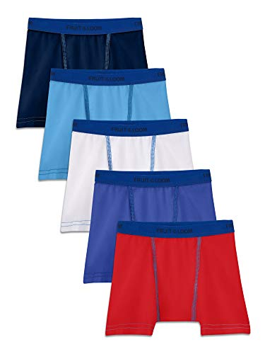 Fruit of the Loom Toddler Boys 5 Pack Stretch Boxer Brief, Assorted, 4T/5T (Boxer Briefs 5t)