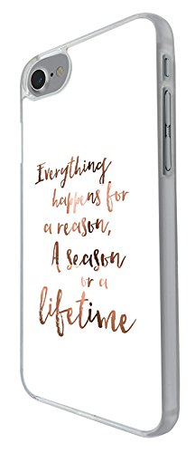 003207 - Everything happens for a reason quote Design iphone 6 Plus / iphone 6 Plus S 5.5'' Hülle Fashion Trend Case Back Cover Metall und Kunststoff -Clear