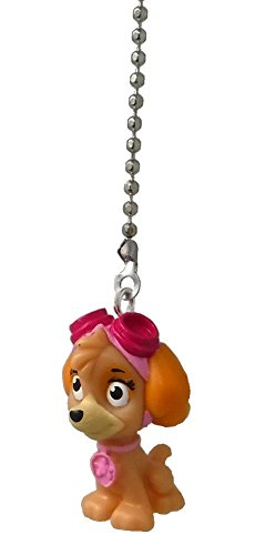 Paw Patrol Puppy Dog Ceiling Fan Pull (SKYE sky - Tan dog with pink Pilot goggles hat)