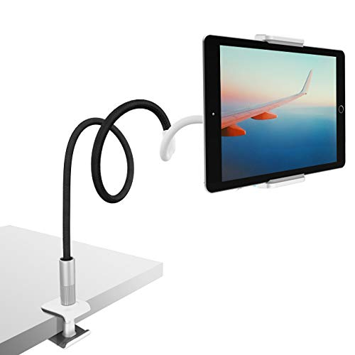 Gooseneck Tablet Holder, Lamicall Tablet Mount : Flexible Arm Clip Tablet Stand Bed Desk Mount Compatible with iPad Pro Mini Air, Galaxy Tabs More 4.7-10.5 Cell Phones and Tablets