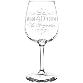 amazoncom wine glass goblet 40th birthday vintage aged