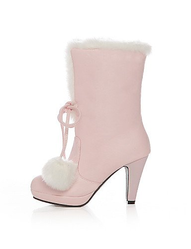 Xzz White Botas Mujer De Moda Boda Eu39 Stiletto Uk8 Cn39 5 5 A U Cn43 Exterior Casual negro Rosa Eu42 Tacones Tacón Zapatos us10 Botines Uk6 Pink us8 Semicuero La r045Eqr