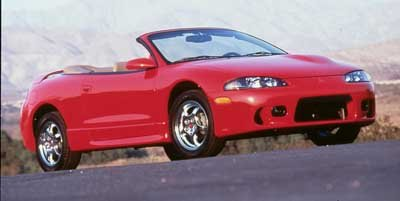 ... 1999 Mitsubishi Eclipse GS-T, 2-Door Convertible Spyder Turbo Automatic Transmission ...
