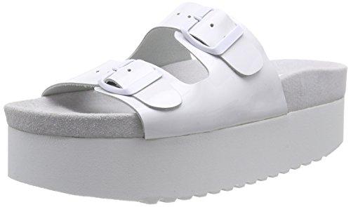 P1217002 - Sandalias de Punta Descubierta Mujer Blanco - blanco (blanco)