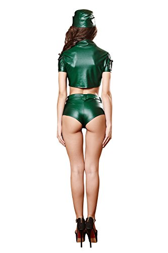 FLH Uniformes de la marina de guerra Juego de la tentación de Halloween Cosplay Disfraces Juego Uniformes erogeno ( Color : Verde , Tamaño : L ) Verde