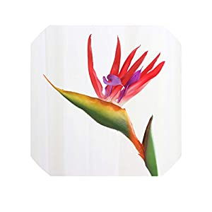 Silicone Paradise Bird Strelitzia Simulation Beautiful Fake Flower Arrangement Wall Decoration for Home Hotel Office Table,red 1pcs 38
