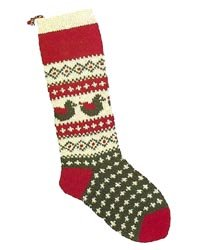 Christmas Stockings Knitting Kits; Two Turtle Doves
