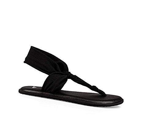 Price comparison product image Sanuk Girls' Youth LIL Yoga Sling Ella Sandal Black 2/3 & Cleaning Stick Bundle