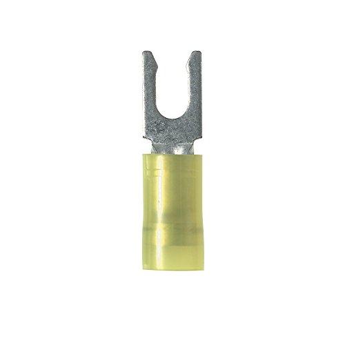 Panduit PN10-8LF-L Locking Fork Terminal, Nylon Insulated, 12 - 10 AWG, #8 Stud Size, Yellow (Locking Fork Terminal)