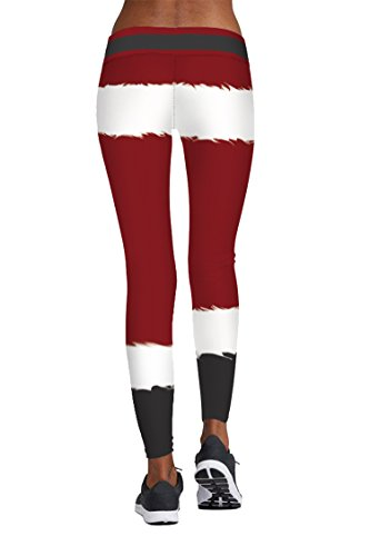 Pink Queen Santa Claus Novelty Christmas Leggings, US S-M, Christmas Pattern 11 by Pink Queen (Image #2)