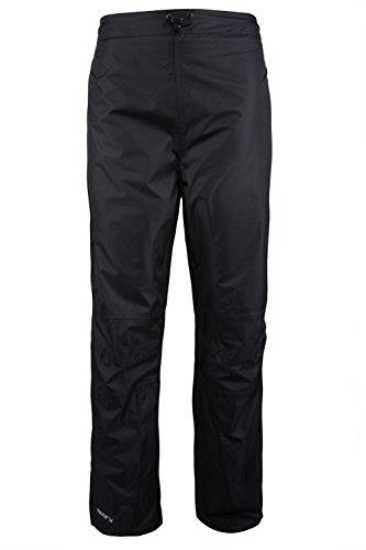 Mountain Warehouse Damen Spray Wasserdicht Regenschutz Überhose Hosen Regenhose Brand Neu Wanderhose Schwarz DE 38 (EU 40)