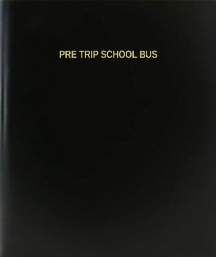 BookFactory® Pre Trip School Bus Log Book / Journal / Logbook - 120 Page, 8.5''x11'', Black Hardbound (XLog-120-7CS-A-L-Black(Pre Trip School Bus Log Book)) by BookFactory