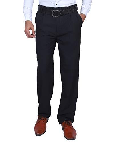 Particle Men's Pleat-Front Formal Trousers – Checks (Sizes 32-46)