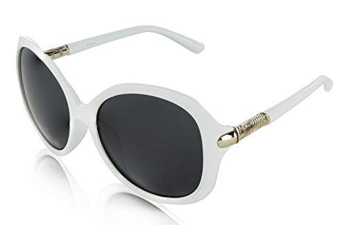 Cheap Fake Retro Trendy Luxury Vintage Stylish Plastic White UV 400 ()