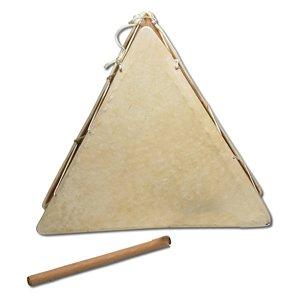 Peruvian Triangular Two-Sided Hand Drum