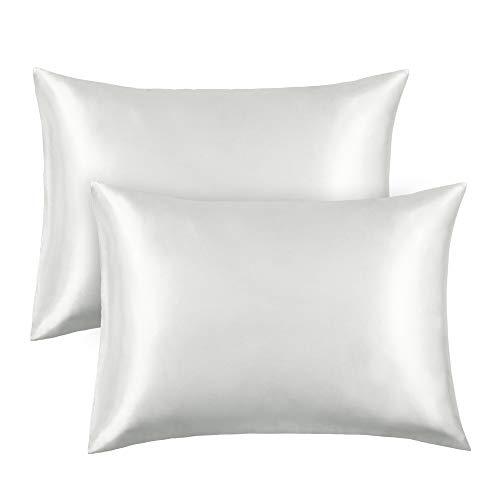Amazon.com: FAMIROSA Silk Satin Pillowcase 2 Pack Queen