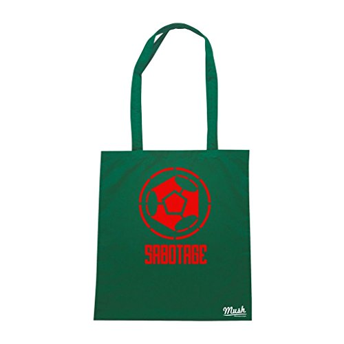Borsa Sabotage Logo - Verde Bottiglia - Politic by Mush Dress Your Style