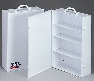 4 Shelf industrial cabinet- empty metal case w/ swing out door- 14-15/16 in. x21-7/8 in. x5-1/2 in. - 1 ea.