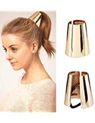 Metal Hair Ties Gothic Punk, Women Girl Metal Elastic Hair Clips Ponytail Hair Cuff Headwear Hair Band Hair Holder -