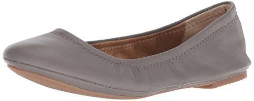 Lucky Brand Women's Emmie Ballet Flat, Titanium, 8 Medium US