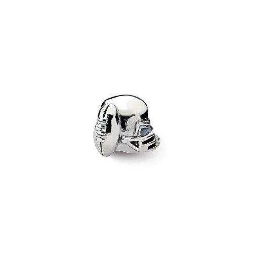 Charm For Bracelet Football Helmet Bead Sport Fine Jewelry For Women Gift Set ()