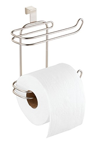 Mdesign Metal Wire Compact Hanging Over The Tank Toilet Tissue Paper