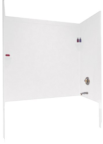 Swanstone SI00603.010 Solid Surface Glue-Up 3-Panel Bathtub Wall Kit, 32-in L X 60-in H X 60-in H, White ()