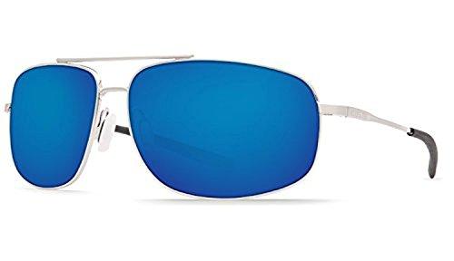 Costa Shipmaster Sunglasses & Cleaning Kit Bundle Brushed Palladium / Blue Mirror 580g
