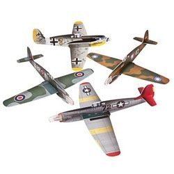 Large War Plane Gliders - Games & Activities & Flying Toys & Gliders by Fun Express (Image #1)