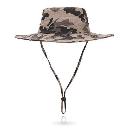 - Jane Shine Outdoor Sun Hat Quick-Dry Breathable Mesh Hat Camping Cap Khaki Camouflage