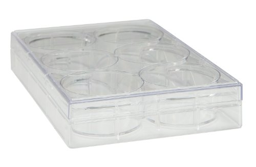 Plates Cell Culture (TrueLine Clear Polystyrene Sterile 6 Well Cell Culture Plate (Case of 50))