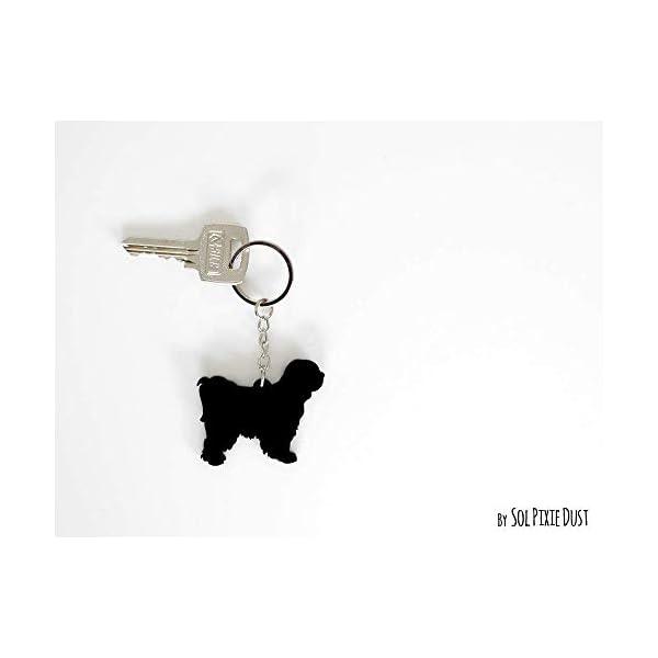 Tibetan Terrier Dog - Keychain Silhouette 1