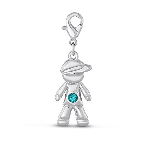 Esty   Me Little Boy Dangle Charm With Personalized Birth Month   December