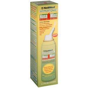 Hypertonic Saline - NeilMed NasaMist Hypertonic Extra Strength Saline Spray, 125mL