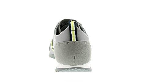 UK Herren Retro Leichte 6 GRAU Neon 10 42 GR脰脽EN Turnschuhe Obermaterial NEON Nylon 鈪� Grau Modische Joggen wUpfUg