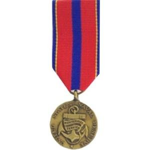 Meritorious Service Mini Medal - Naval Reserve Meritorious Service Medal - Mini
