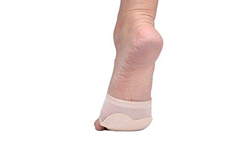 TOFFERN Unisex 2 Paar Lyrical Yoga Ballett Latin Bauchtanz Halbsohle Schutz Bare Foot Thong Toe Pad Dance Pfote Schuhe Fitness Beige2
