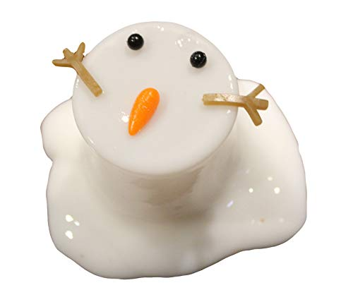 Melting Snowman Slime - White Slime with Snow Man Parts - Eyes, Stick Arms and Carrot Nose - Christmas Party Favor]()