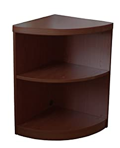 Awesome Mayline Aberdeen Series 2 Shelf Quarter Round With 1 Fixed Shelf,