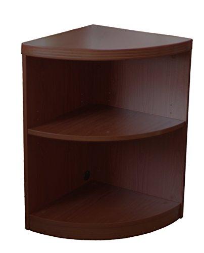 Aberdeen Kitchen - Mayline ABQ2LDC Aberdeen Quarter Round Corner Bookcase, 2 Shelf, Mocha Tf