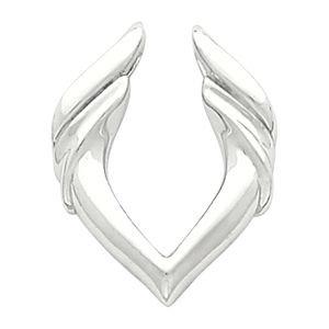 Pendentif en or blanc 14 carats-JewelryWeb exhausteur de goût